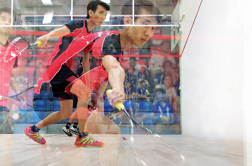 Squash action at the 28th SEA Games