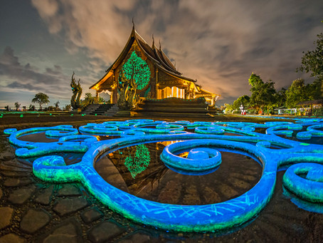 Flourescence Beauty - Wat Sirindhorn Wararam  Phu Prao
