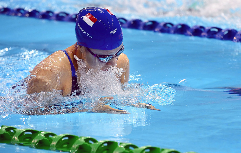 Singapore's Samantha Yeo in action at the 28th SEA Games