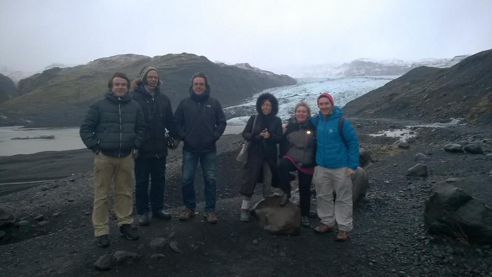 the group at Mýrdalsjökull