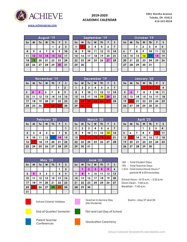 ACPA Final Academic 2019-20 calendar-pag