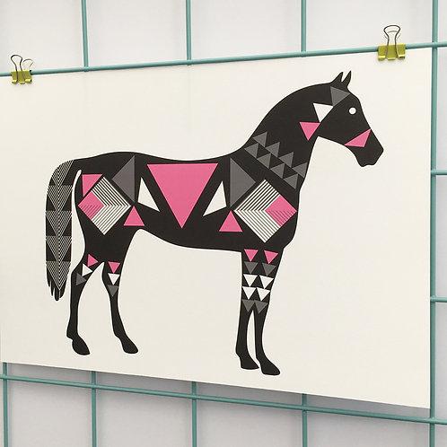 Geo Horse Black