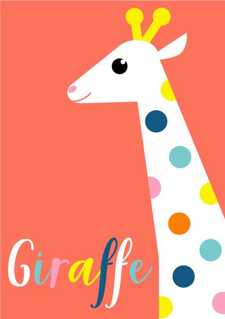 Animal Poster Giraffe