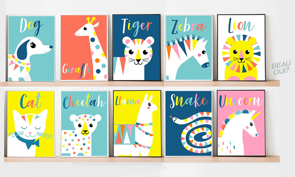 Animal Posters by Beau Oui_copyrighted i