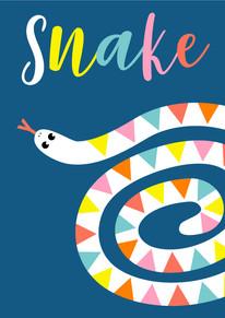 Animal Poster Blue Snake