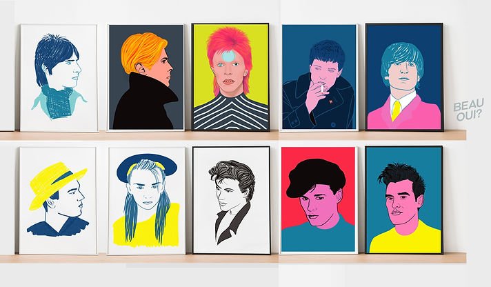 portraits of iconic pop stars for sale