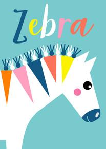 Animal Poster Zebra