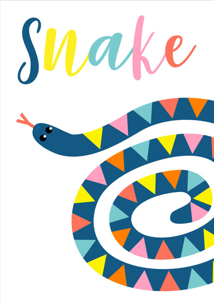 Animal Poster White Snake