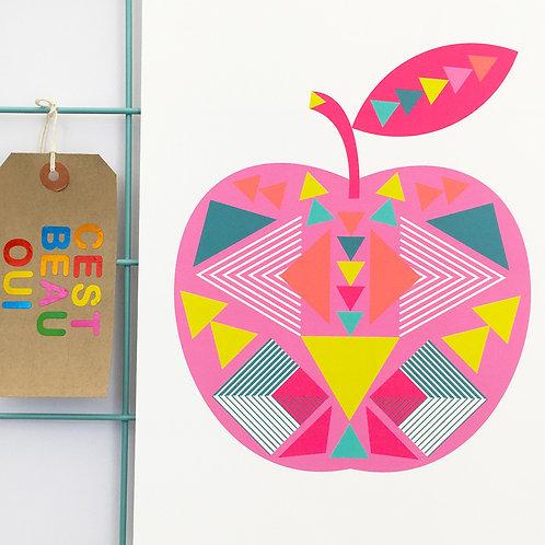 Geo Apple Pink