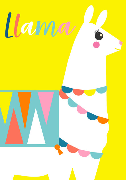 Animal Poster Llama