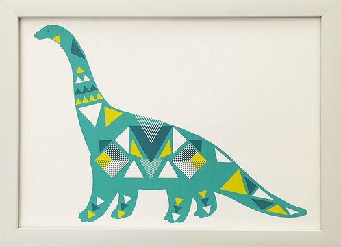 Geo Dino Turquoise