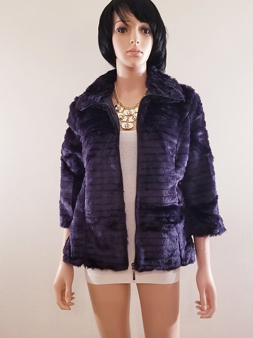 Midnight Blue Faux Fur