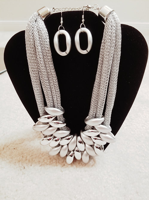 Silver Marquise Set