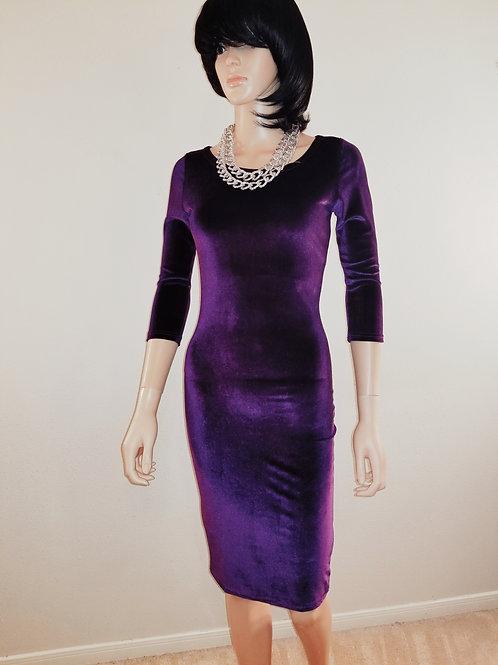 Purple Velvet Bodycon