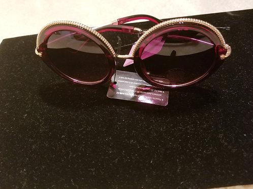 Burgundy Mirrored Sunglasses