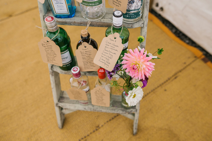Gin Bottle Seating Plan