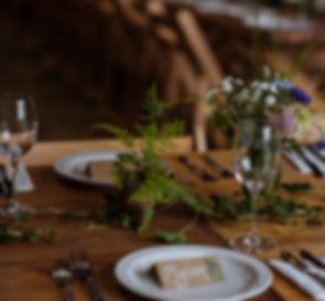 Eco wedding table setting