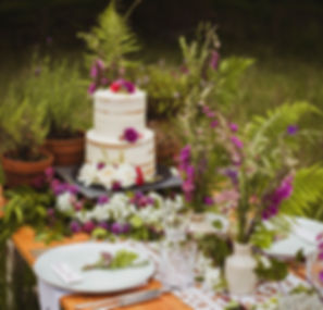 Sustainable wedding table