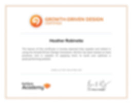 HubSpot Growth Driven Design Certificate