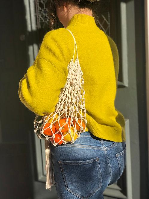 Net Market Bag with Single Shoulder Strap