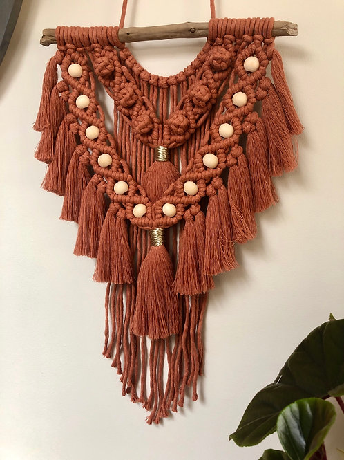 Macramé Wall Hanging with Beads