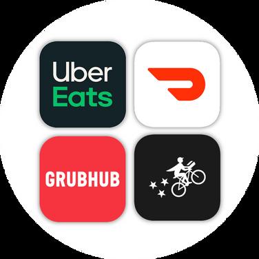 UberEats Grubhub Doordash Postmates Frut