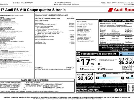 Audi Window Sticker / VIN Decoder