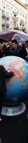 Географический глобус в День Города Моск