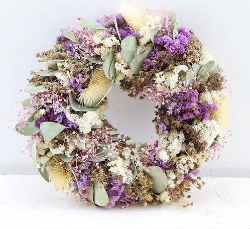 Dried Flower Wreath-Lilac