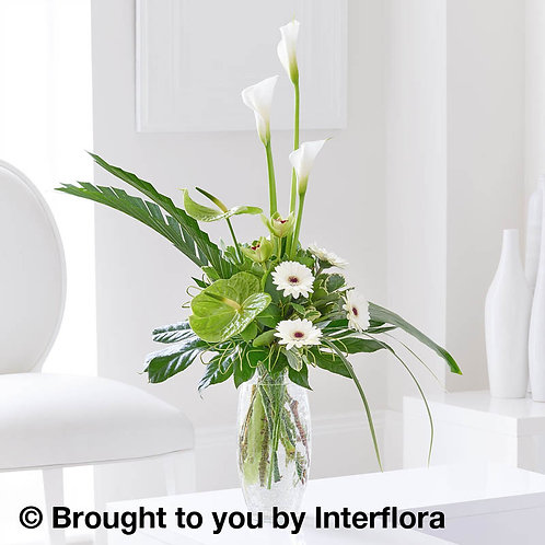 Graceful Anthurium & Calla Lily Vase
