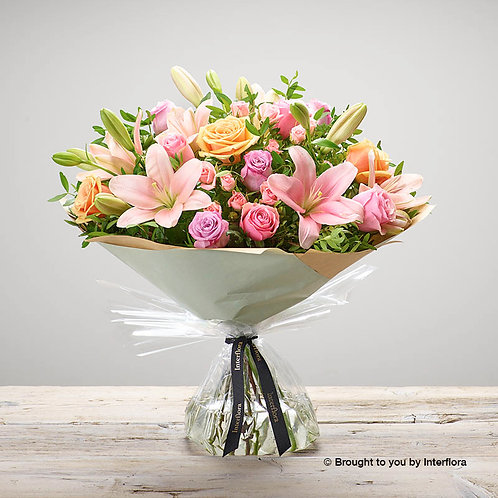 Large Strawberry Ice Hand Tied