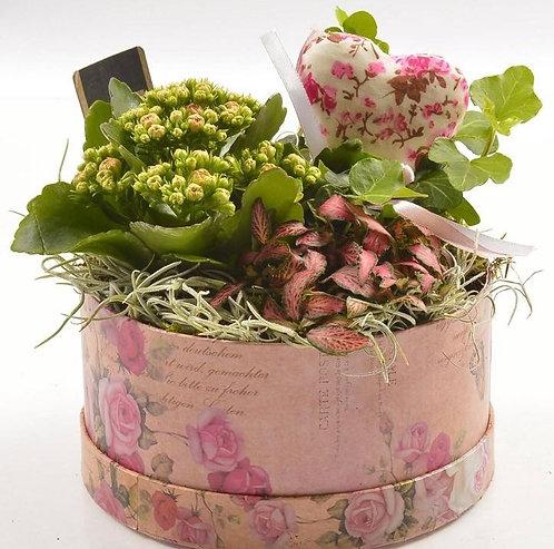 Planted Floral Hatbox