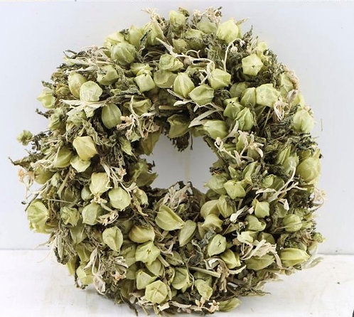 Dried Flower Wreath-Green