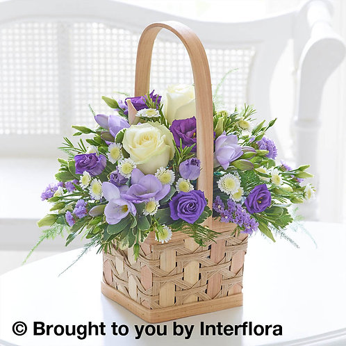 Lilac & White Basket