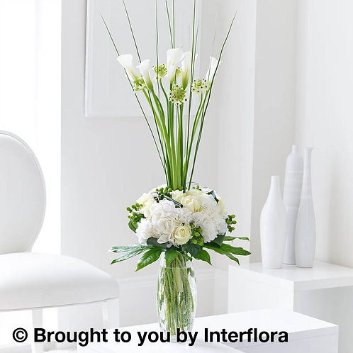 Sophisticated Rose & Calla Lily Vase