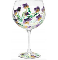 Pansy Gin Glass