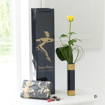 Single Yellow Rose Gift Set
