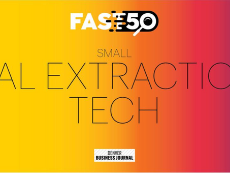 HAL Extraction celebrates first Fast 50 nomination from Denver Business Journal
