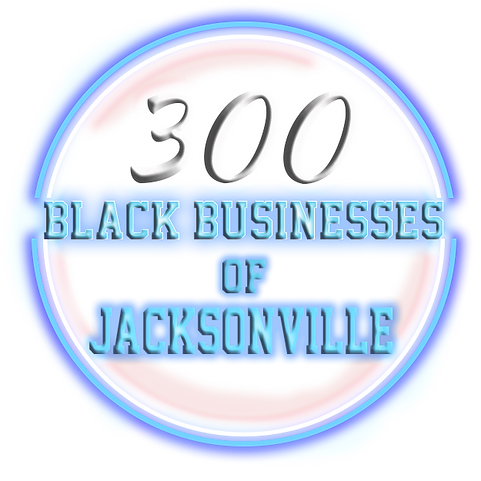 200 Black Businesses Neon Circle Blue an
