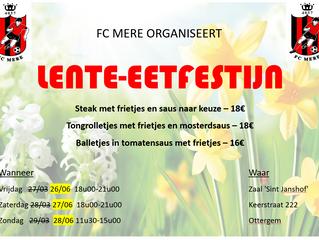 Lente-eetfestijn FCM 2020: UPDATE DATUMS!!!