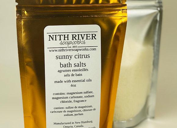 sunny citrus bath salts