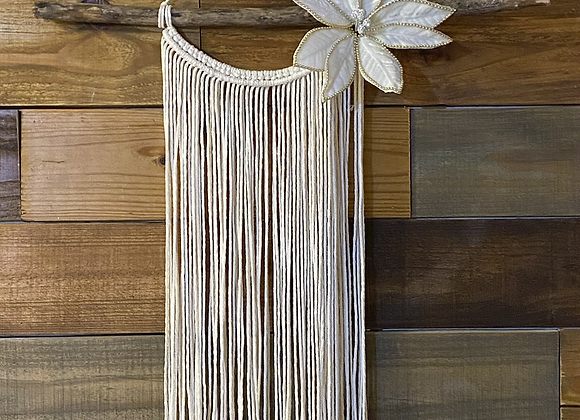 Gold Edged Flower Wall Hanging