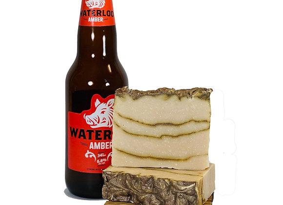 amber lager soap bar