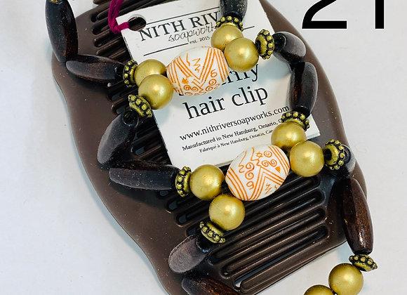 african butterfly hair clip