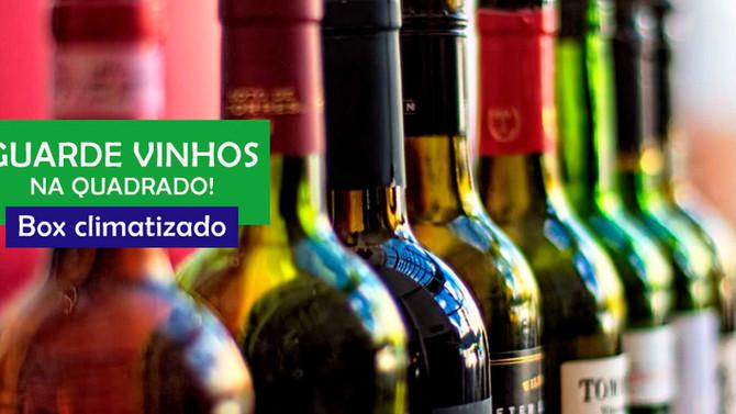 Amantes de vinhos têm espaço na Quadrado.