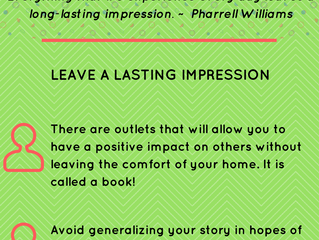 Write That Book Already: Leave a Lasting Impression
