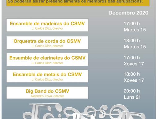 Concertos de Nadal das Agrupacións do CSMV