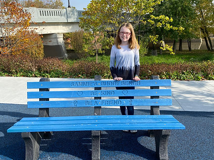 Sammie buddy bench promenade park.JPG