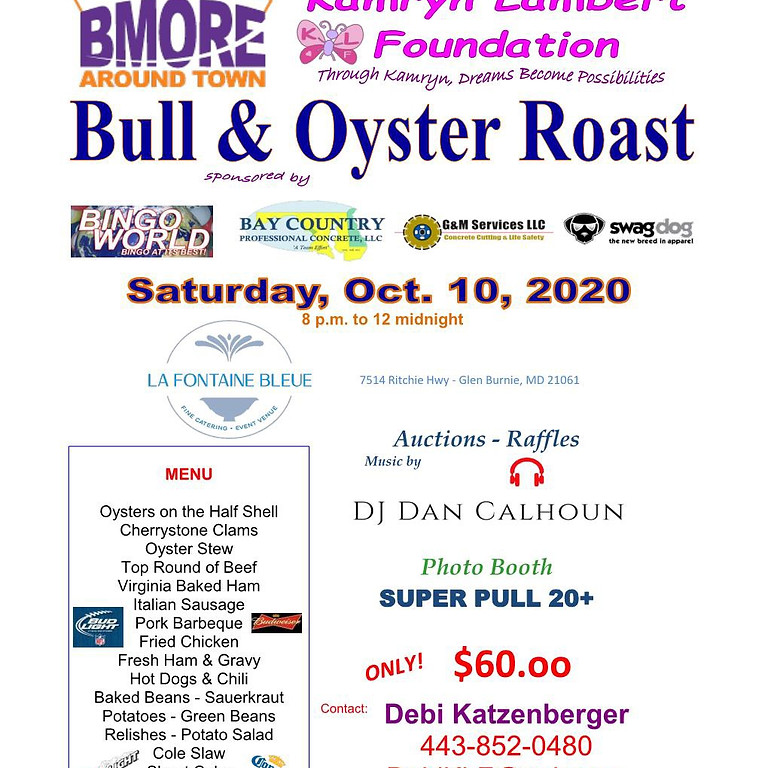 13th Annual Bull and Oyster Roast