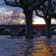 Inondation du Tarn à Moissac -1